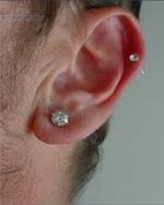 Ear Lobe Piercing For Men