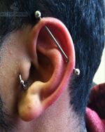 Industrial Piercing For Men