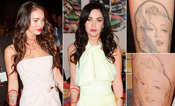 Megan Fox Tattoos Removed