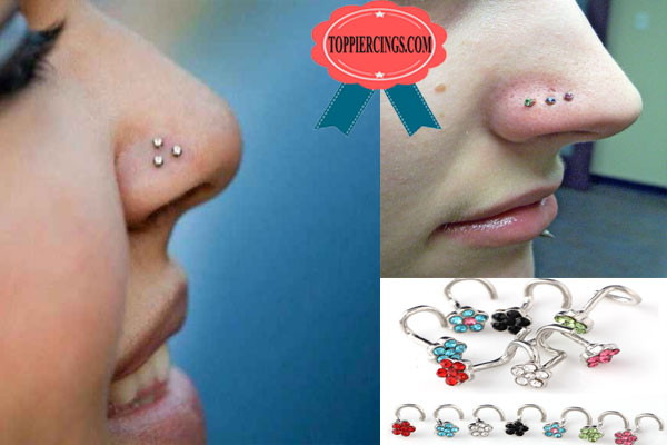 Triple Nostril Piercing and Triple Nostril Piercing Jewelry