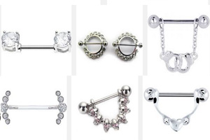 Diamond Nipple Rings