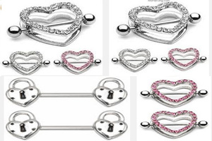 Heart Nipple Rings