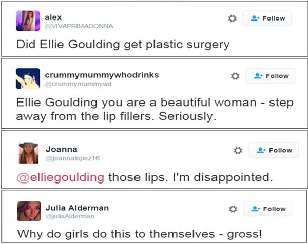 Ellie Goulding Plastic Surgery Feedback