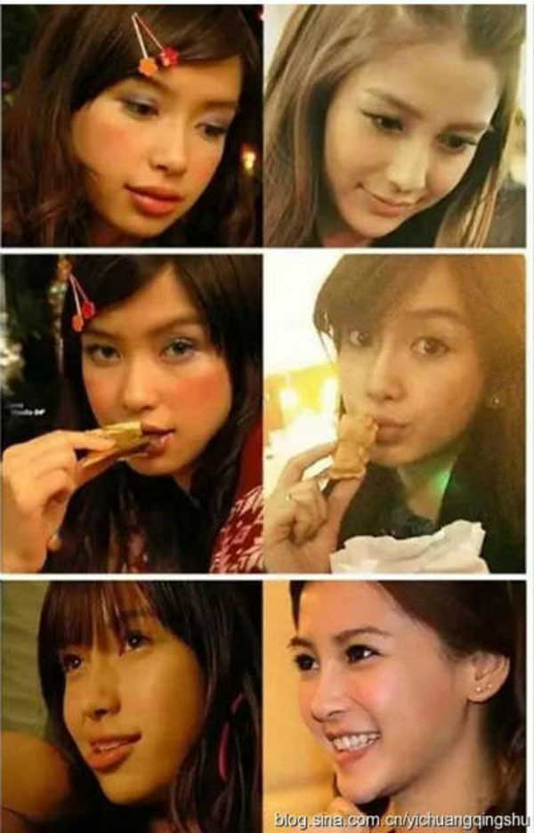 Angelababy Plastics Surgery Before and After Pictures